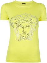 Versace crystal embellished T-shirt - women - Spandex/Elastane/viscose - 36