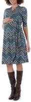 Everly Grey Women's Mila Wrap Maternity/nursing Dress