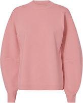 Tibi Zip Back Detail Sweater Pink P