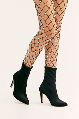 Free People Pearl Embellished Fence Net Tights