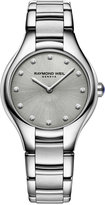Raymond Weil Women's Swiss Noemia Diamond Accent Stainless Steel Bracelet Watch 32mm 5132-ST-65081