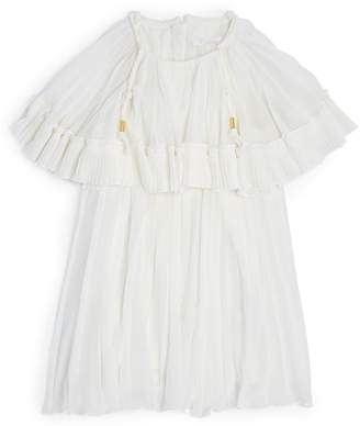 Chloé Kids Braid-Detail Pleated Dress