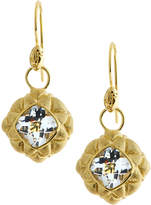 Jude Frances 18k White Topaz Quilted Pillow Earring Charms