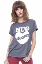 Local Celebrity Hug Dealer Schiffer Tee in Charcoal