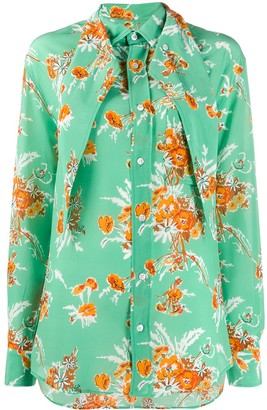 Plan C Floral Long-Sleeve Blouse