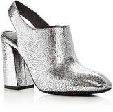 Michael Kors Clancy Metallic Leather High Heel Booties