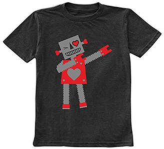 Urban Smalls Boys' Tee Shirts Charcoal - Charcoal Dabbing Love Bot Tee - Toddler & Boys