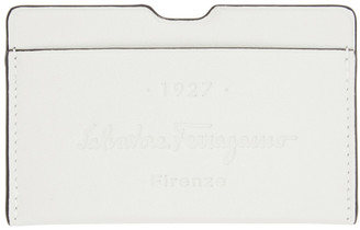 Salvatore Ferragamo Off-White Firenze 1927 Card Holder