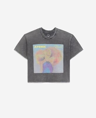 The Kooples Faded black T-shirt in cotton w/Blondie motif