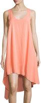 Splendid Asymmetric Sleeveless Dress, Sunrise