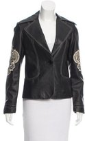 Sheri Bodell Leather Embroidered Jacket