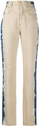 Alberta Ferretti High Rise Straight Leg Jeans