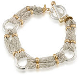 Lauren Ralph Lauren 12K Goldplated Brass Chain-and-Ring Bracelet