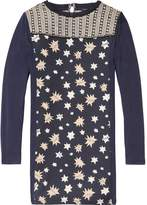 Scotch & Soda Woven Star Jersey Dress