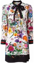 Gucci floral snake print dress - women - Silk - 38