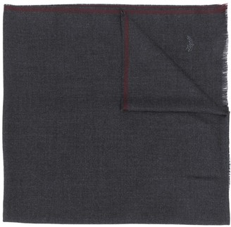 Ermenegildo Zegna Embroidered Logo Wool Scarf