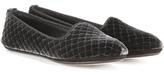 Bottega Veneta Intrecciato velvet slippers