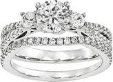 MODERN BRIDE 1 1/5 CT. T.W. Diamond 14K White Gold Bridal Set