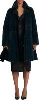 Zac Posen Short Mink Fur Coat w/ Sheared Mink Edges & Belt