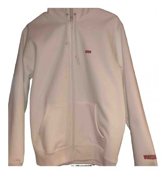 Supreme White Polyester Jackets