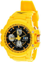 Everlast Mens Yellow Strap Analog/Digital Sport Watch