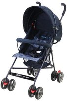 Dream On Me Single Stroller with large Canopy, Navy by