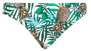 Dorothy Perkins Womens Dp Beach Pineapple Print Low Rise Bikini Bottoms