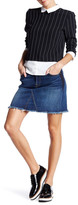 7 For All Mankind A-Line Mini Jean Skirt