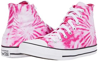 Converse Chuck Taylor(r) All Star(r) Hi - Tie-Dye (Cerise Pink/Game Royal/White) Classic Shoes