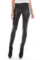 J Brand Ready-To-Wear Minette Leather Pant in Black