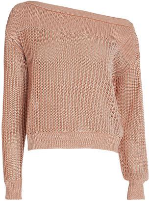 Intermix Megan Two-Tone Cotton Sweater