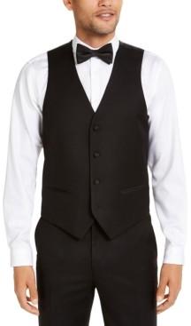 Alfani Men's Classic-Fit Stretch Black Tuxedo Vest, Created for Macy's