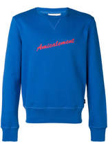 Ami Alexandre Mattiussi Amicalement print sweatshirt