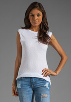 Michael Stars Sleeveless Muscle Tank With Back Scoop