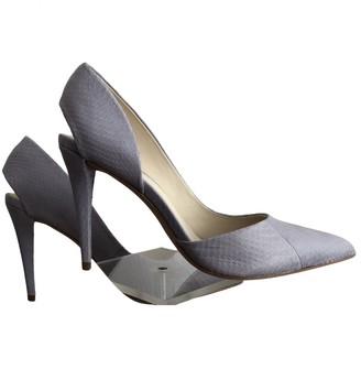 AERIN Purple Leather Heels