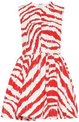 MSGM Jacquard cotton-blend minidress