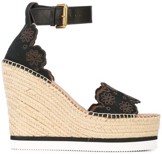 See by Chloe Glyn wedge sandals