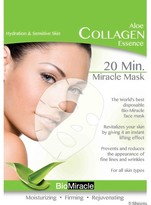 BioMiracle Anti-Aging & Moisturizing Face Mask Sheets - Aloe - 5 count