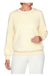 Alfred Dunner Women's Solid Anti-Pill Sweatshirt