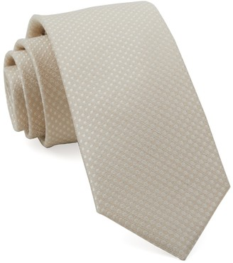 Tie Bar Dotted Spin Light Champagne Tie