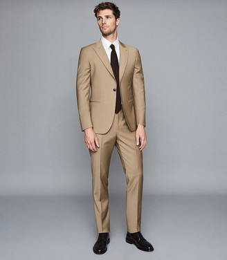 Reiss Barolo - Wool Modern Fit Suit in Taupe