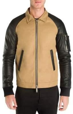 DSQUARED2 Two-Tone Cotton Boxy Bomber Jacket