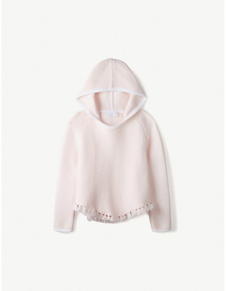 The Little White Company Pom-pom cotton-blend cardigan 1-6 years