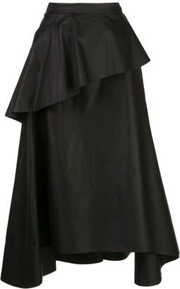 3.1 Phillip Lim Ruffle Front Midi Skirt