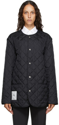 Maison Margiela Black Nylon Padded Jacket