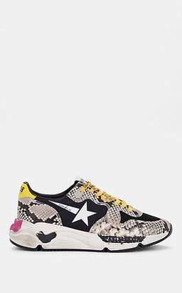 Golden Goose Women's Running Sole Stamped-Leather Sneakers - Dark Gray