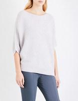 St. John Ladies Petal Melange Ribbed Luxurious Overszied Cashmere Sweater