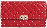 Valentino Spike Quilted Studded Leather Clutch