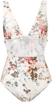 Zimmermann floral one-piece swimsuit - women - Polyamide/Spandex/Elastane - 1