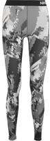 Nike Pro Hyperwarm Printed Dri-fit Stretch-jersey Leggings - Dark gray